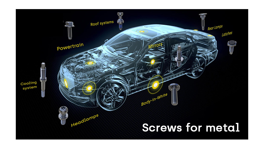 screws for metal automotive sector
