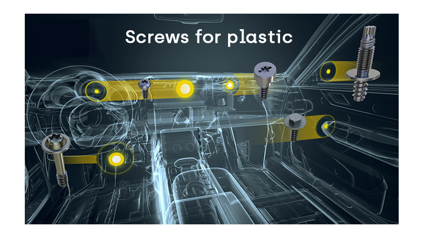 screws for plastic automotive sector